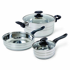 Gibson Manta 5-pc. Mirror Polished Bakelite Stainless Steel Cookware Set