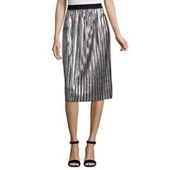 Project Runway Metallic Pleated Skirt