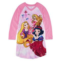 Disney Long Sleeve Disney Princess Nightshirt-Big Kid Girls