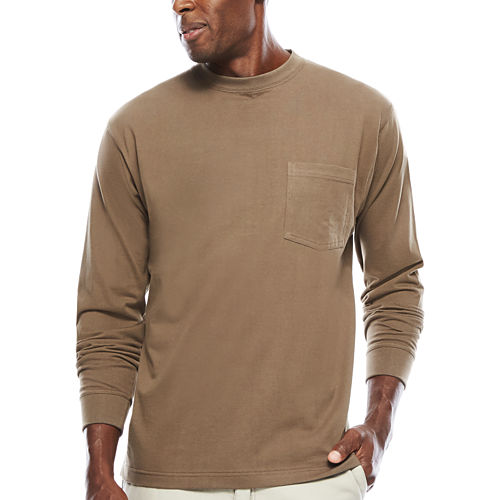 Smith's Workwear Pocket Crew Neck Tee With Gusset Long Sleeve