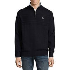 U.S. Polo Assn. Mock Neck Long Sleeve Sherpa Pullover Sweater