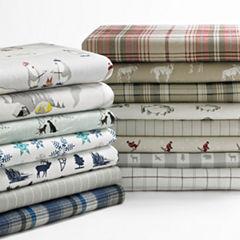 Eddie Bauer® School of Fish Easy Care Flannel Sheet Set