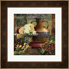 Cheese & Grapes II Framed Wall Art