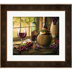 Wine By The Window I Framed Wall Art