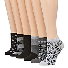 Mixit 6-pc. Low Cut Socks - Womens