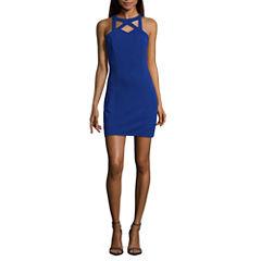 Speechless Sleeveless Cut Outs Bodycon Dress-Juniors