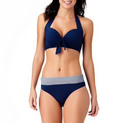 Liz Claiborne Solid Bra Swimsuit Top or High Waist Bottom