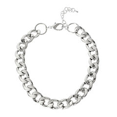 Worthington® Silver-Tone Curb Link Necklace