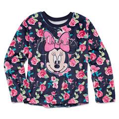 Disney Crew Neck Long Sleeve Minnie Mouse Blouse - Big Kid Girls