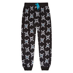 Black Skull Jogger Sleep Pant - Boys 4-20
