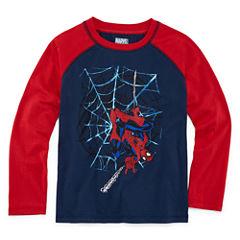 Long Sleeve Spiderman T-Shirt-Preschool Boys