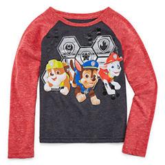 Long Sleeve Crew Neck Paw Patrol T-Shirt-Toddler Boys