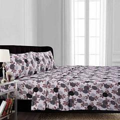 Tribeca Living Dahlia Flannel Sheet Set