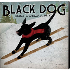 Black Dog Ski Co. Gallery Wrapped Canvas Wall ArtOn Deep Stretch Bars