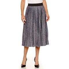 Sag Harbor Ruffles Knit Pleated Skirt