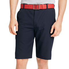 IZOD Solid Flat-Front Shorts