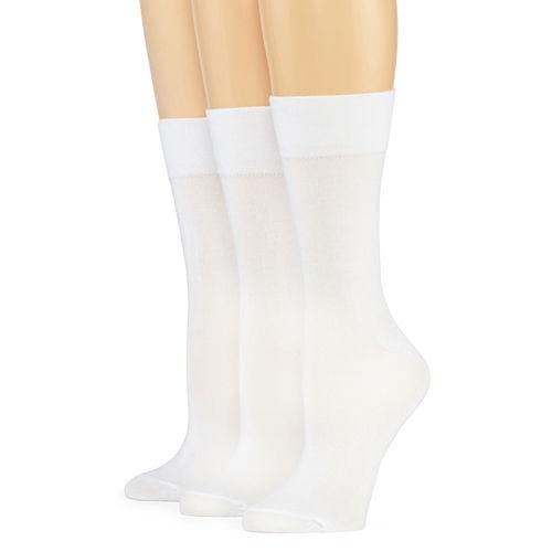 Mixit™ 3-pk. Comfort Top Crew Socks