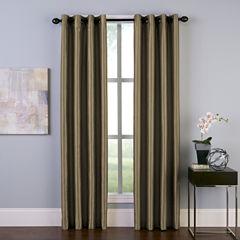 Malta Faux Silk Grommet-Top Curtain Panel