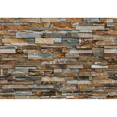 Ideal Décor Colorful Stone Wall Mural