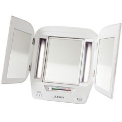 Jerdon Style Euro Design Tri-Fold Lighted Mirror