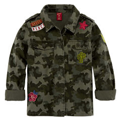 Arizona Military Shirt Jacket - Girls' 7-16 & Plus
