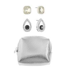 Liz Claiborne Gray Stud Earrings