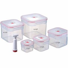 Lasting Freshness 11-piece Vacuum Food Storage Containers, Square