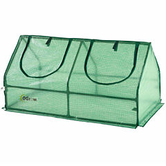 Ogrow Compact Outdoor Seed Starter Greenhouse Cloche With Pe Protection Cover For Protected Gardening