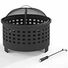 Crosley Hudson Basket Weave Fire Pit