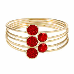 Liz Claiborne Womens Red Bangle Bracelet