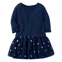 Carter's Long Sleeve Star A-Line Dress - Preschool Girls