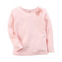 Carter's Long Sleeve Round Neck T-Shirt-Preschool Girls