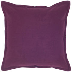 Rizzy Home Solid Self Flanged Square Throw Pillow