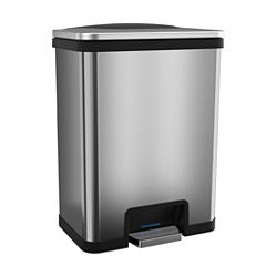 TapCan - Effortless Step Trash Can with One-Tap Pedal Sensor and Deodorizer, 13 Gallon / 49 Liter