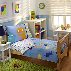 NoJo® Monsters 4-pc. Toddler Bedding Set
