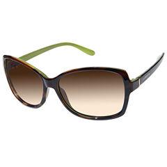 Liz Claiborne Full Frame Square UV Protection Sunglasses-Womens