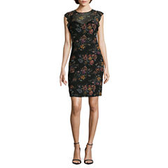 Nicole By Nicole Miller Sleeveless Floral Bodycon Dress
