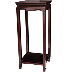 Oriental Furniture Rosewood Oriental Square Chairside Table