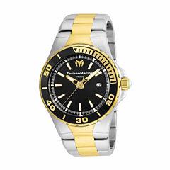 Techno Marine Mens Two Tone Bracelet Watch-Tm-215058