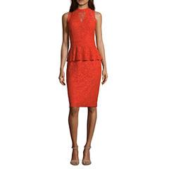 Nicole By Nicole Miller Sleeveless Peplum Dress