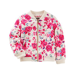 Oshkosh Girls Lightweight Bomber Jacket - Preschool