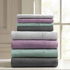 Urban Habitat Heathered Cotton Jersey Knit Easy Care Sheet Set