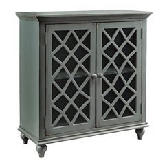 Signature Design by Ashley® Mirimyn Storage End Table with Lattice Doors