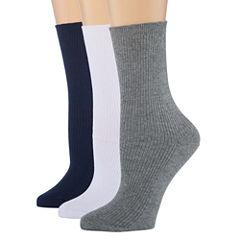 Berkshire Non Binding 3 Pair Crew Socks - Womens