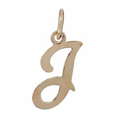 Personalized 14K Yellow Gold Initial I Pendant Necklace