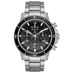 Bulova Mens Silver Tone Bracelet Watch-96b272