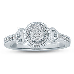 Womens 1/5 CT. T.W. Genuine Round White Diamond Sterling Silver Promise Ring