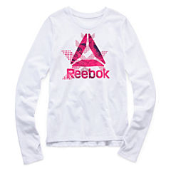 Reebok Graphic T-Shirt-Big Kid Girls