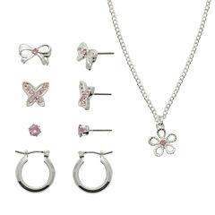 Sensitive Ears Womens 5-pc. Brass Jewelry Set
