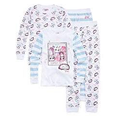 Shopkins 4-pc. Shopkins Pant Pajama Set Girls